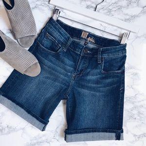 KUT from the Kloth   denim bermuda jean shorts
